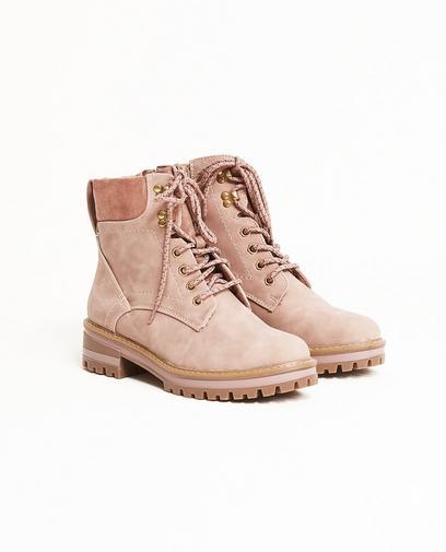 Oudroze laarzen